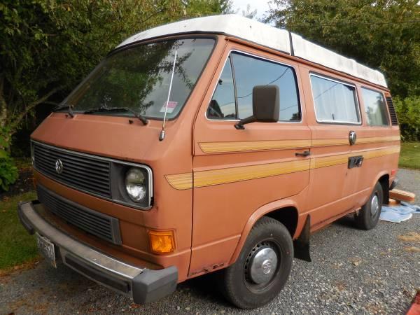 1983 vw vanagon westfalia camper for sale in tiverton ri. Black Bedroom Furniture Sets. Home Design Ideas