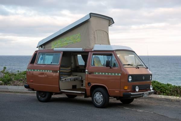 1984 vw vanagon westfalia camper for sale in oahu hi. Black Bedroom Furniture Sets. Home Design Ideas