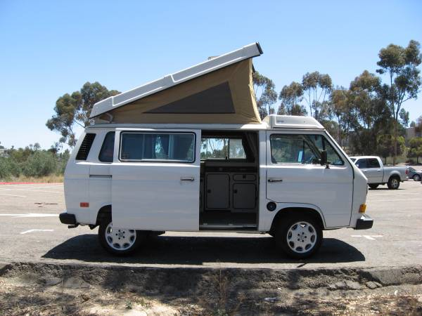 1986 vw vanagon westfalia camper for sale in san diego ca. Black Bedroom Furniture Sets. Home Design Ideas