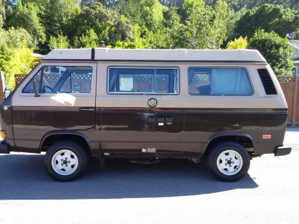 1984 vw vanagon westfalia camper for sale in mill valley ca. Black Bedroom Furniture Sets. Home Design Ideas
